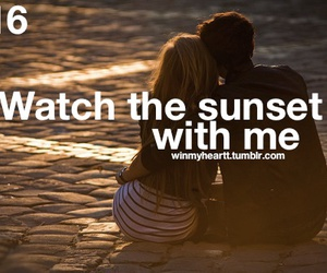 love, sunset, and boy image