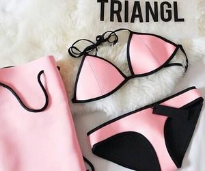 triangl, pink, and bikini image