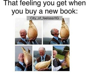 book, feeling, and funny image