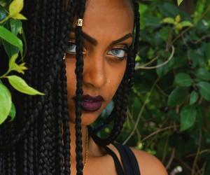 braid, eyes, and hair image
