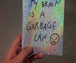 grunge, holographic, and quotes image
