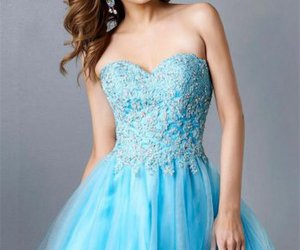 short dress, strapless, and sweet dresses image