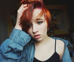 alternative, dyed hair, and pink image