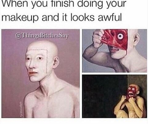funny, makeup, and lol image