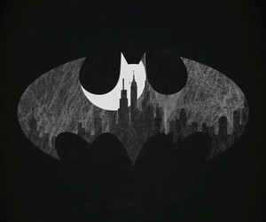 batman, black and white, and city image