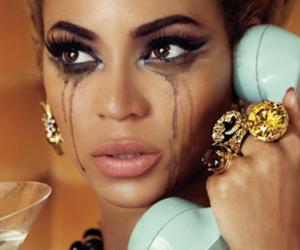 beyoncé, cry, and tears image