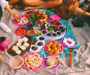summer, picnic, and friends image