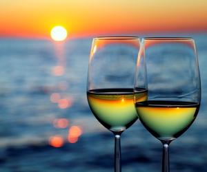 sunset and wine image