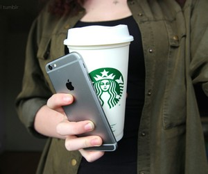 starbucks, tumblr, and iphone image