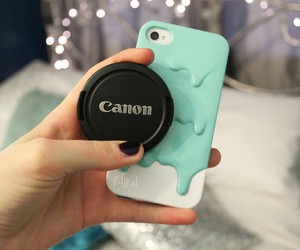 canon, iphone, and camera image