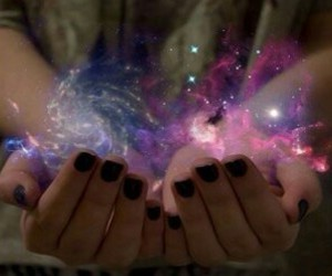 cosmos, hand, and image image