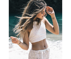 beach, beautiful, and clothes image
