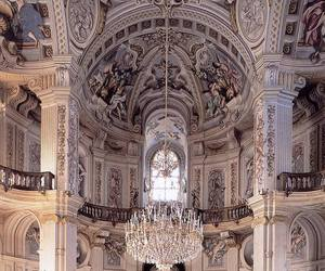 architecture, barocco, and chandelier image