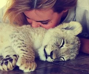 cute, girl, and animal image