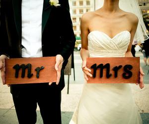 love, wedding, and mrs image