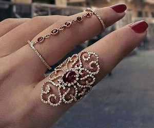 pretty, red, and ring image