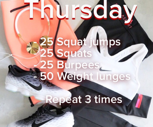 fitness, workout, and thursday image