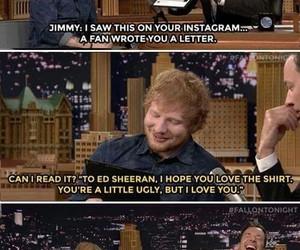 ed sheeran, funny, and jimmy fallon image