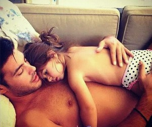 Daddy's Girl, shirtless, and adorable child image
