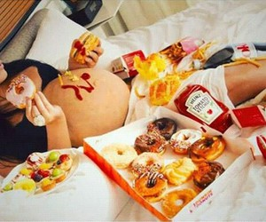 food, baby, and donuts image