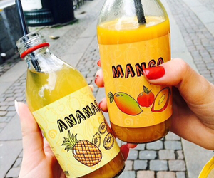 drink, mango, and ananas image