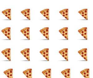 background, emoji, and pizza image