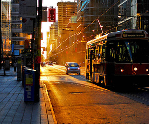 city, bus, and car image