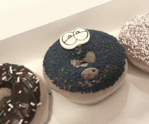 cookie monster, eat, and donuts image