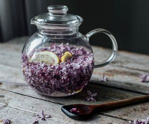 food and lilac syrup image