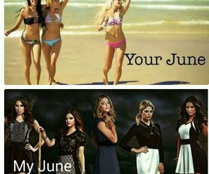 pll, june, and pretty little liars image