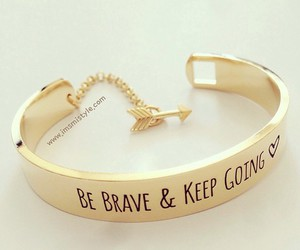 gold, bracelet, and brave image