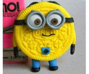 minions, oreo, and yellow image
