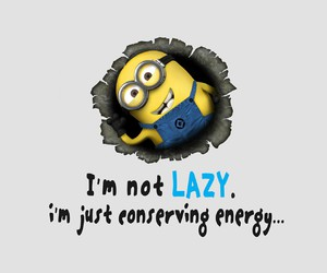 minions, Lazy, and funny image