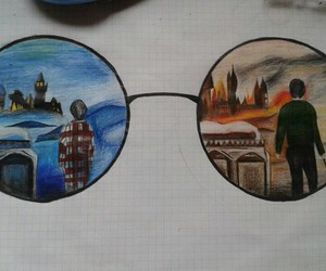 glasses, harry potter, and old image