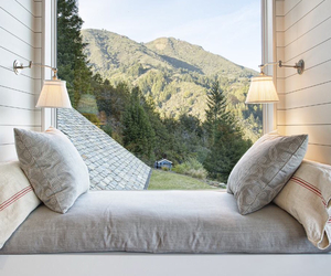 bedroom, decor, and mountains image