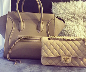 bag, chanel, and beige image