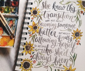 calligraphy, pretty, and flowers image