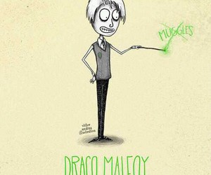 draco malfoy, harry potter, and drawing image