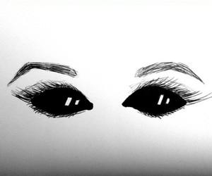 black, eyes, and demons image