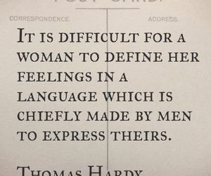 feelings, men, and thomas hardy image
