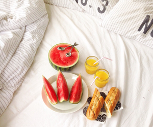 bed, bread, and food image