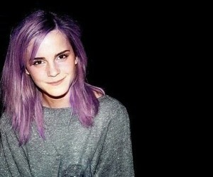 emma watson, hair, and purple image