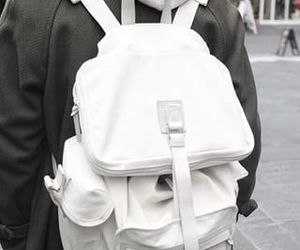 fashion, white, and backpack image
