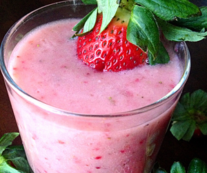 healthy, smoothie, and strawberry image