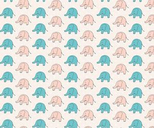 background, elephant, and blue image