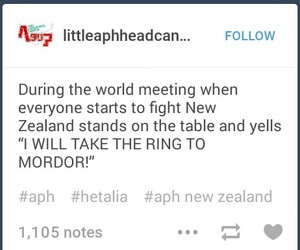 hetalia, lord of the rings, and aph new zealand image