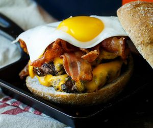 bacon, cheese, and food image