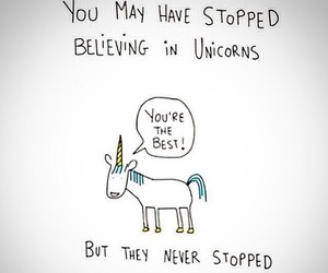 unicorn and believe image