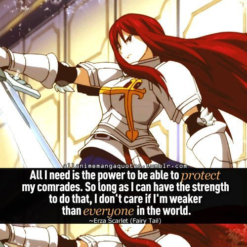 erza scarlet i love erza she s one of the strong women that i