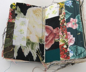 art, book, and fabric image